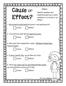 Cause and Effect Activities, Posters, and Printables