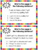 Cause and Effect Anchor Charts and Task Cards
