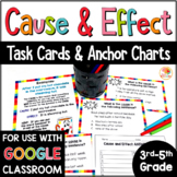 Cause and Effect Anchor Charts & Task Cards w/ Digital Option