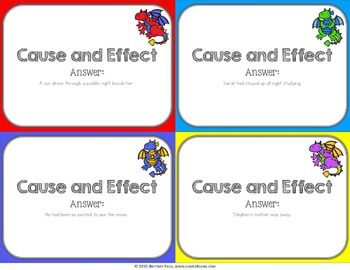 Cause and Effect Task Cards Game {Reading Comprehension Passages and Questions}