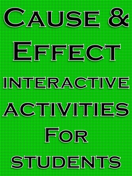 Cause and Effect Activities Cause and Effect Reading Comprehension