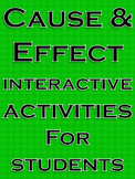 Cause and Effect Activities Cause and Effect Passages