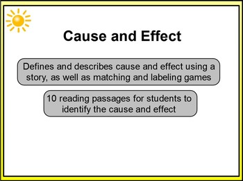 Cause and Effect 1st - 2nd Grade PowerPoint Lesson