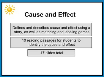 Cause and Effect 1st - 2nd Grade SMART Notebook Lesson