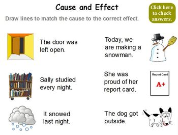 Cause and Effect 1st - 2nd Promethean ActivInspire Flipchart Lesson