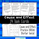 Cause and Effect Task Cards - Use for Cause and Effect Scoot