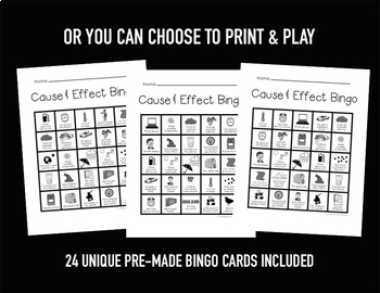 Cause and Effect Bingo