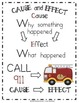 Fire Safety~Reading~Cause and Effect~Anchor Chart & Printable