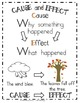 Cause and Effect Anchor Chart & Printable for Grades 1-2