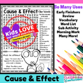 Cause and Effect Activity: Cause and Effect Word Search