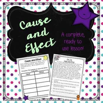 Cause and Effect Powerpoint and Activities