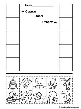 Cause and Effect Worksheet | Cause and Effect Activity