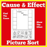 Cause and Effect   Worksheet Activity   1st 2nd 3rd Grade