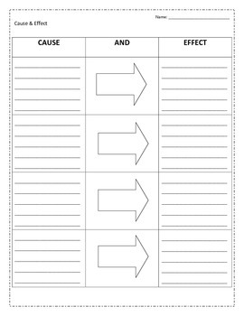 Cause and Effect - A Graphic Organizer