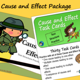 Cause and Effect Text Structure - Task Cards and Slide Pre