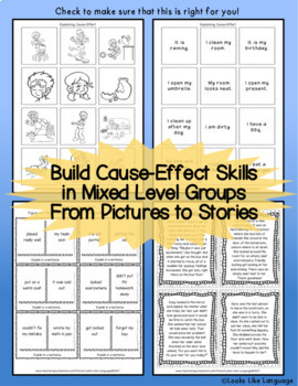 Cause and Effect Picture Activities for Mixed Level Groups