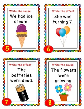 Cause And Effect Activities Task Cards Matching Flip