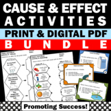 Cause and Effect Activities BUNDLE, Cause and Effect Task Cards Worksheets