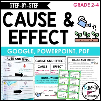 Cause and Effect Activities for Interactive Reading Notebook
