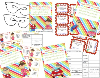 Cause and Effect Activity Pack {Super Hero Theme}