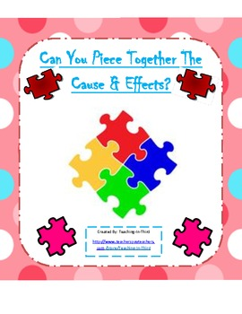 Cause and Effect Activity Packet-Aligned to the Common Core Standards