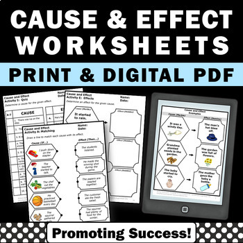 Cause and Effect Worksheets, Grade 3, Cause and Effect Activities