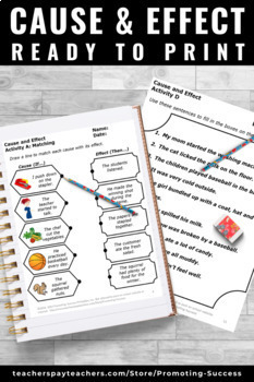 Cause and Effect Activities, Special Education Reading Strategies Worksheets