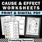 Cause and Effect Activities ELA Google Classroom Digital W