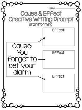 Cause and Effect Activity Packet