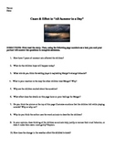 "Cause and Effect ""All Summer in a Day"" Ray Bradbury Worksheet"