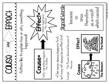 Cause and Effect Anchor Chart