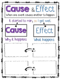 Cause and Effect Anchor Chart or Cause and Effect Graphic