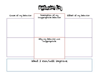 Cause and Effect Behavior Log