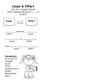 Cause and Effect Bookmark