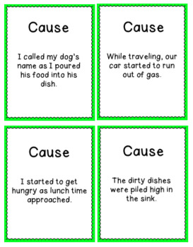 Cause and Effect Card Game