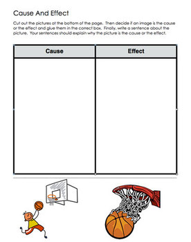 Playful image regarding cause and effect printable