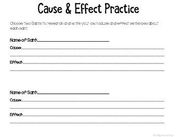 Cause and Effect - Catholic Saint Edition