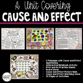 Cause and Effect Activities, Cause and Effect Passages and Task Cards