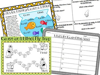 Common Core Cause and Effect Center Literacy Centers Games 5 Activities
