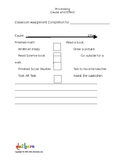 Cause and Effect Classroom Work Completion Chart