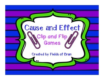 Cause and Effect Clip and Flip Games