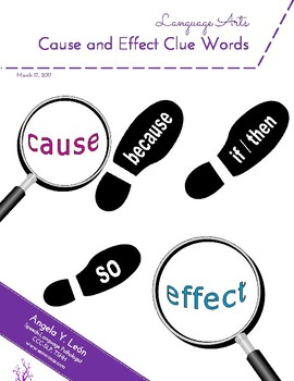 Cause and Effect Clue Words