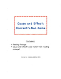 Cause and Effect Concentration Game