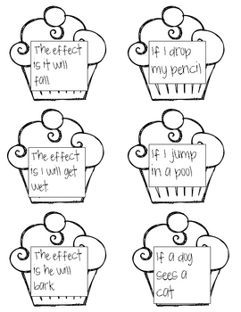 Cause and Effect Cupcakes