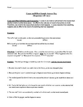Cause and Effect: Definition, Explanation, Examples, Worksheet, and Answer Key