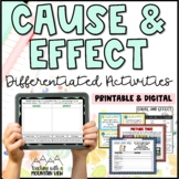 Cause and Effect Differentiated Activity Bundle *Common Core Aligned!*