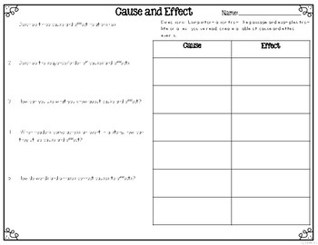 Cause and Effect Differentiated Leveled Texts and Questions
