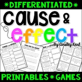 Cause and Effect - Passages, Printables, Games- Differenti