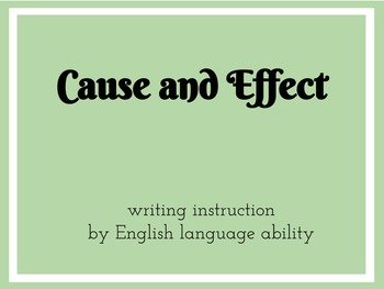 Cause and Effect Differentiated Writing Prompt