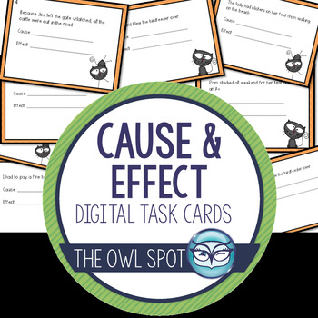 Cause and Effect Digital Task Cards Test Prep